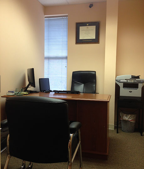 Consultation room in Owings Mills